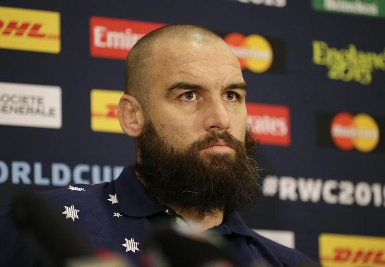 Rugby Union - Australia Press Conference - The Lensbury Hotel, Teddington, Middlesex - 21/10/15Scott Fardy of Australia during a press conferenceAction Images via Reuters / Henry BrowneLivepic