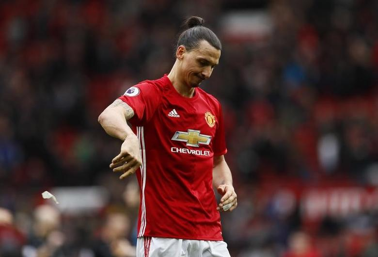 Britain Soccer Football - Manchester United v AFC Bournemouth - Premier League - Old Trafford - 4/3/17 Manchester United's Zlatan Ibrahimovic looks dejected after the game  Action Images via Reuters / Jason Cairnduff Livepic
