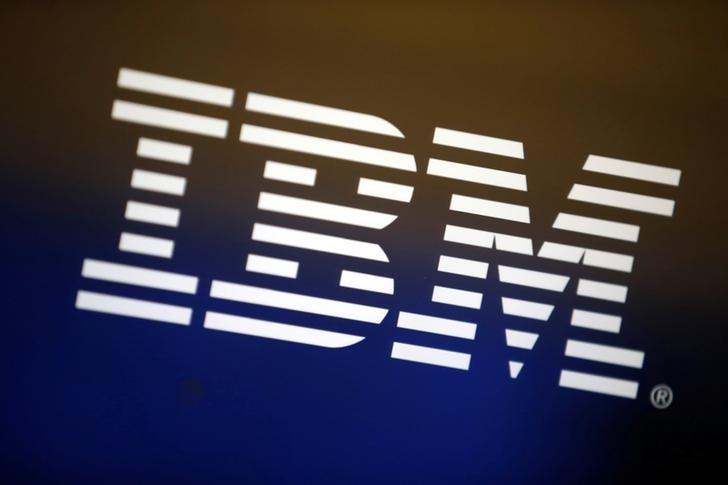 The logo of IBM is seen on a computer screen in Los Angeles, California, United States, April 22, 2016. REUTERS/Lucy Nicholson/File Photo