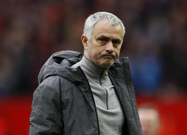 3月6日、サッカーのイングランド・プレミアリーグ、マンチェスター・ユナイテッドのジョゼ・モウリーニョ監督は、ホームでの勝ち点の取りこぼしが多過ぎると嘆いた。英マンチェスターで4日撮影(2017年 ロイター)