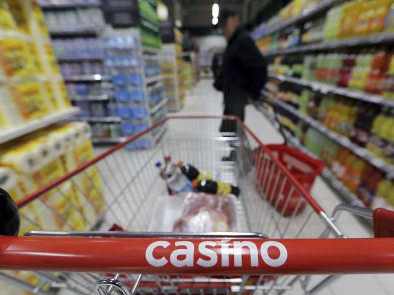 A customer stands in an aisle near a shopping trolley in a Casino supermarket in Nice, France, January 16, 2017. REUTERS/Eric Gaillard