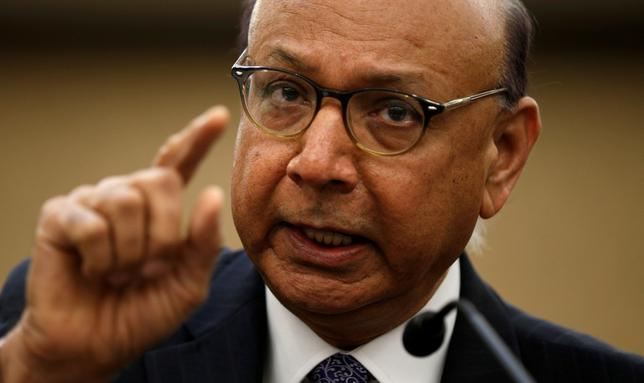 FILE PHOTO: Gold-star father Khizr Khan, father of U.S. Army Captain Humayun Khan who was killed in 2004 in Iraq, takes part in a discussion panel on the Muslim and Refugee ban in the U.S. Capitol in Washington, U.S., February 2, 2017.    REUTERS/Kevin Lamarque/File Photo