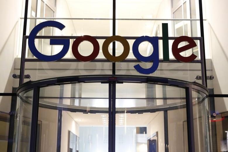 The Google logo adorns the entrance of Google Germany headquarters in Hamburg, Germany July 11, 2016.  REUTERS/Morris Mac Matzen
