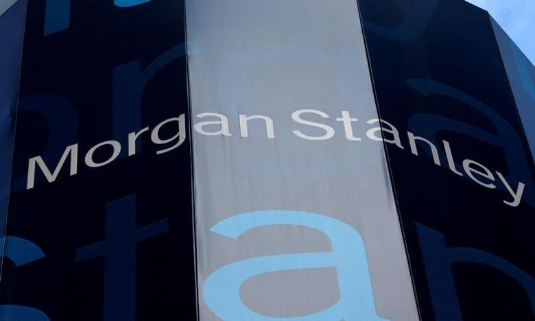 FILE PHOTO -  The corporate logo of financial firm Morgan Stanley is pictured on the company's world headquarters in New York, New York January 20, 2015.    REUTERS/Mike Segar/File Photo