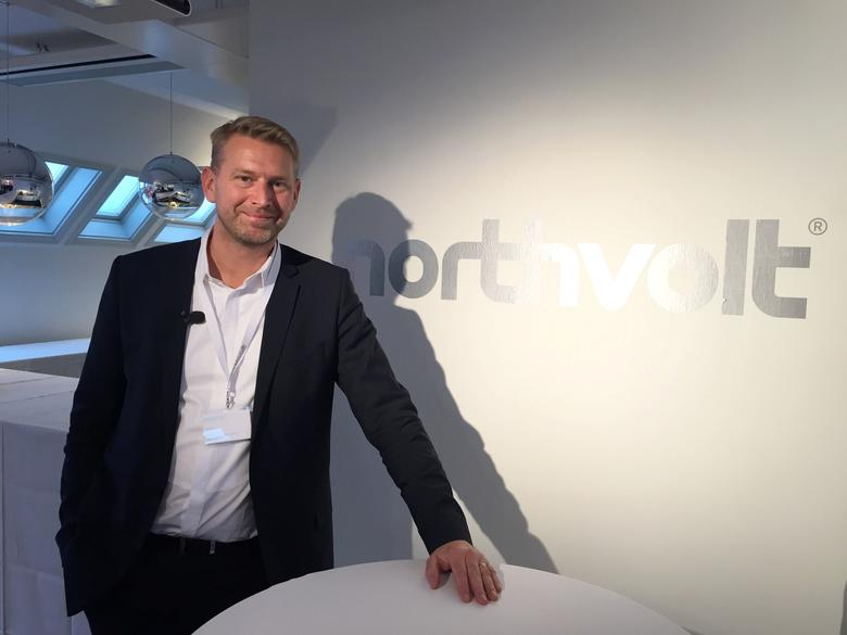Northvolt CEO Peter Carlsson poses for a picture at the company's offices in Stockholm, Sweden, March 7, 2017. REUTERS/Niklas Pollard