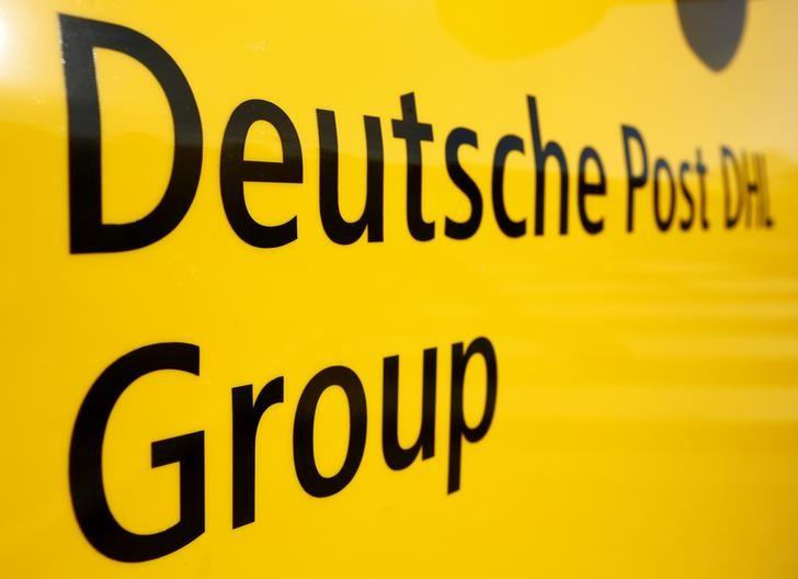 The logo of German postal and logistics group Deutsche Post DHL is seen on the delivery car ''Street Scooter'' in Aachen, Germany, August 23, 2016.      REUTERS/Thilo Schmuelgen