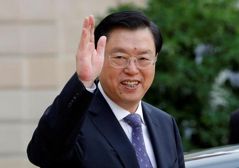 China's National People's Congress (NPC) Chairman Zhang Dejiang leaves the Elysee palace in Paris, France, September 26, 2016.   REUTERS/Philippe Wojazer