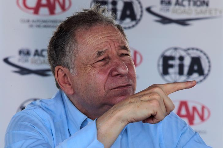 FIA President Jean Todt speaks to the media at a news conference in the race track ''Los Brasiles'' in Managua, Nicaragua, August 10, 2016.  REUTERS/Oswaldo Rivas