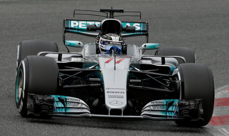Formula One - F1 - Test session - Barcelona-Catalunya racetrack in Montmelo, Spain - 8/3/17. Mercedes' Valtteri Bottas in action. REUTERS/Albert Gea