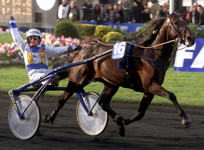 The superstar racehorse Varenne, who was so popular in the early 2000s that commentators joked he should be named foreign minister.   REUTERS/Stringer