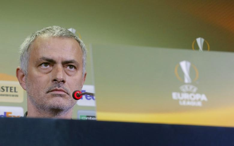 Football Soccer - Manchester United Press Conference - Olimp-2 Stadium, Rostov-on-Don, Russia - 8/3/17 Manchester United manager Jose Mourinho during the press conference Reuters / Maxim Shemetov Livepic