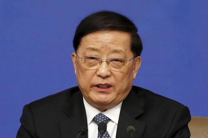 China's Housing Minister Chen Zhenggao speaks at a news conference on the sidelines of the National People's Congress (NPC), China's parliament, in Beijing, China, March 15, 2016. REUTERS/Kim Kyung-Hoon