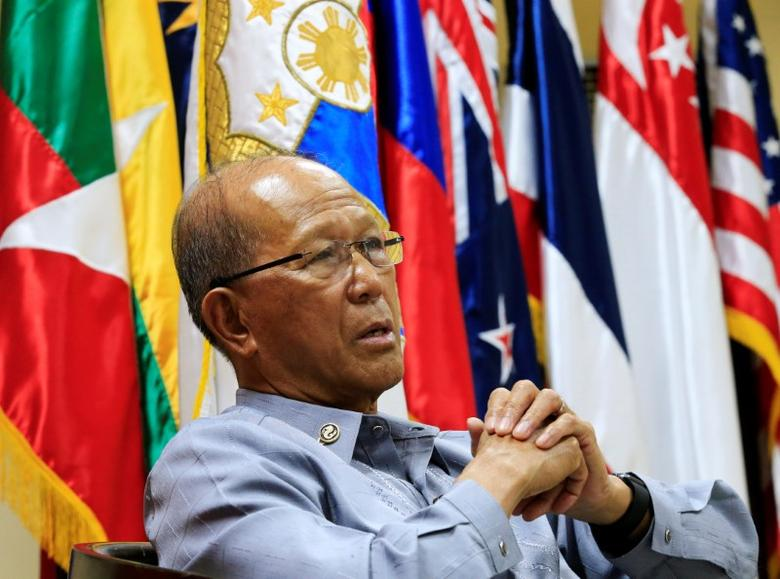 Philippine Defence Secretary Delfin Lorenzana answer questions during a Reuters interview at the military headquarters of Camp Aquinaldo in Quezon city, metro Manila, Philippines February 9, 2017. REUTERS/Romeo Ranoco