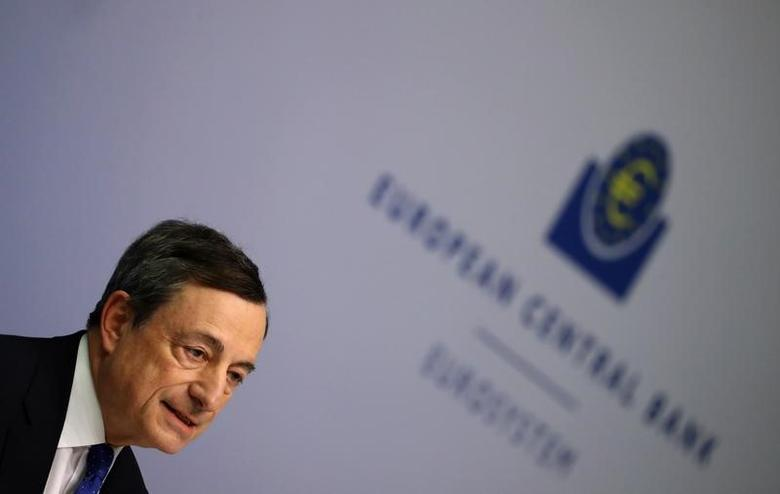 President of the European Central Bank (ECB) Mario Draghi addresses a news conference after the bank's governing council meeting at the ECB headquarters in Frankfurt, Germany, March 9, 2017.  REUTERS/Kai Pfaffenbach