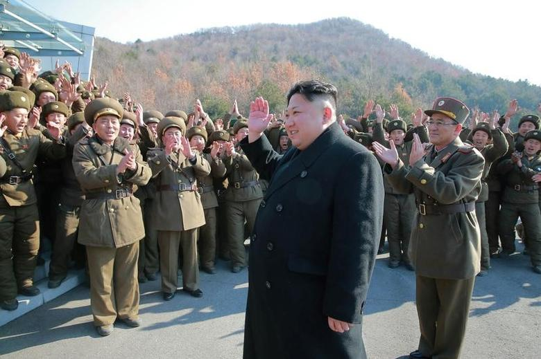 North Korean leader Kim Jong Un supervised a ballistic rocket launching drill of Hwasong artillery units of the Strategic Force of the KPA on the spot in this undated photo released by North Korea's Korean Central News Agency (KCNA) in Pyongyang March 7, 2017. KCNA/via REUTERS