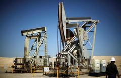 Pump jacks drill for oil in the Monterey Shale, California.  REUTERS/Lucy Nicholson
