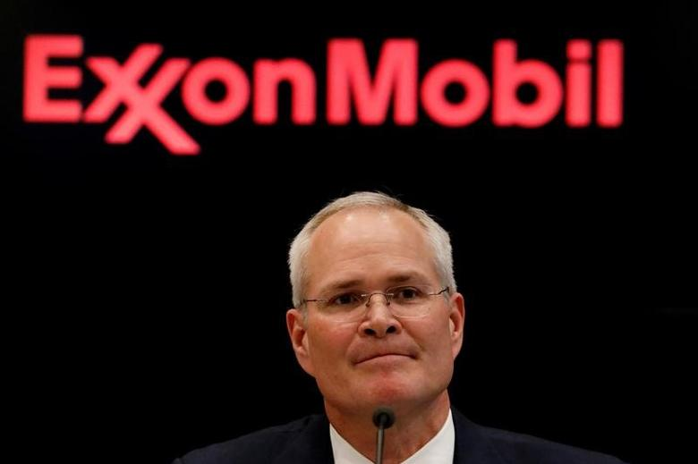 Darren Woods, Chairman & CEO of Exxon Mobil Corporation attends a news conference at the New York Stock Exchange (NYSE) in New York, U.S., March 1, 2017. REUTERS/Brendan McDermid