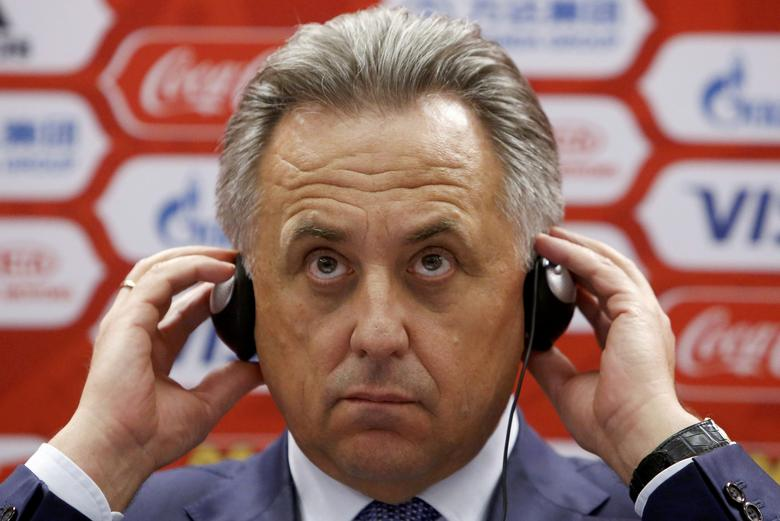 FILE PHOTO: Russian Sports Minister Vitaly Mutko attends a news conference after a meeting of the management board of the 2018 FIFA World Cup Russia local organising committee in Moscow, Russia, July 5, 2016. REUTERS/Sergei Karpukhin/File Photo