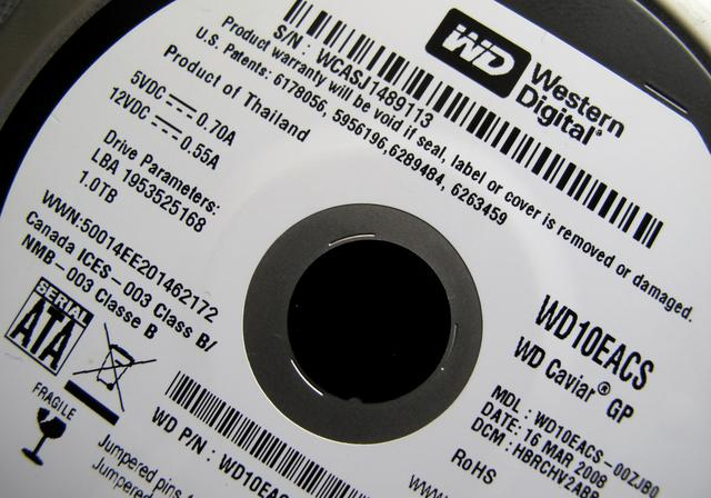 FILE PHOTO: A Western Digital Corporation hard drive is pictured here in Encinitas, California April 19, 2011.  REUTERS/Mike Blake/File Photo
