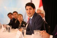 Canada's Prime Minister Justin Trudeau attends a round table at the CERAWeek energy conference in Houston, Texas, U.S. March 9, 2017.  REUTERS/Trish Badger