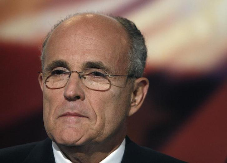 Republican presidential candidate Rudy Giuliani is seen during the Republican Debate at Drake University in Des Moines August 5, 2007.