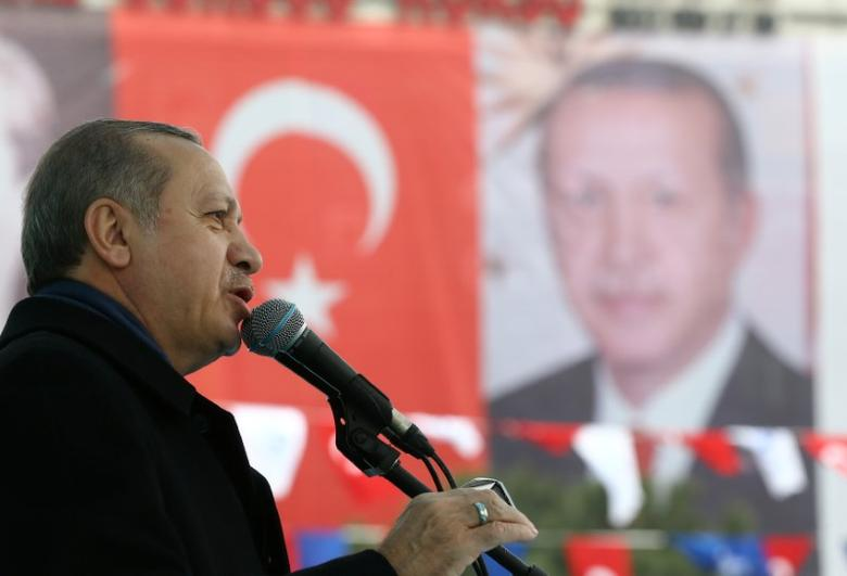 Turkish President Tayyip Erdogan speaks during a ceremony in Istanbul, Turkey, March 11, 2017. Kayhan Ozer/Presidential Palace/Handout via REUTERS