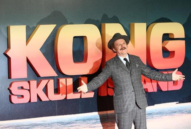 Actor John C Reilly poses for photographers at the European Premiere of Kong: Skull Island in London, Britain February 28, 2017. REUTERS/Neil Hall - RTS10VUH