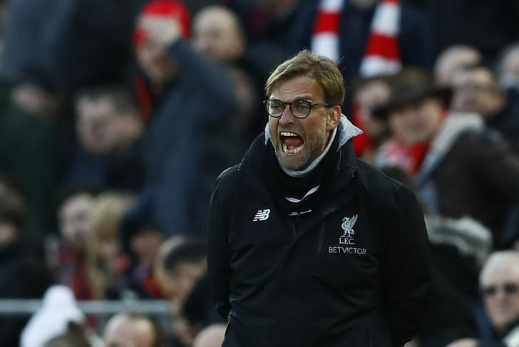 Britain Football Soccer - Liverpool v Burnley - Premier League - Anfield - 12/3/17 Liverpool manager Juergen Klopp Action Images via Reuters / Jason Cairnduff Livepic