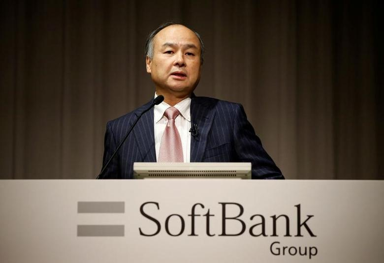 FILE PHOTO: SoftBank Group Corp Chairman and CEO Masayoshi Son attends a news conference in Tokyo, Japan, February 8, 2017.    REUTERS/Toru Hanai/File Photo