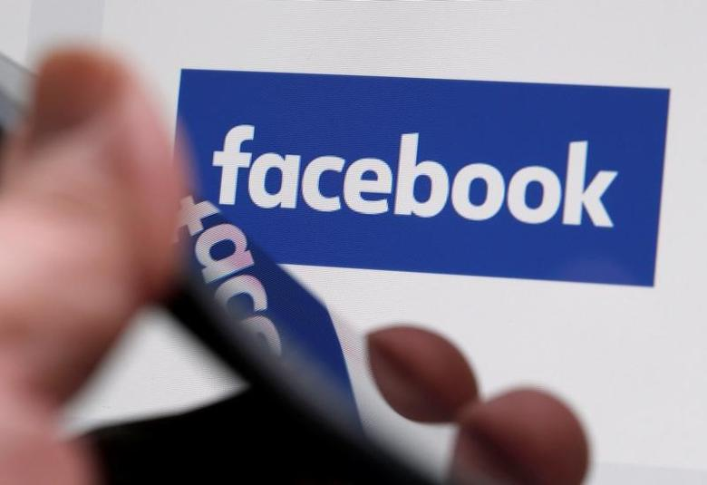 The Facebook logo is displayed on their website in an illustration photo taken in Bordeaux, France, February 1, 2017. REUTERS/Regis Duvignau/Files