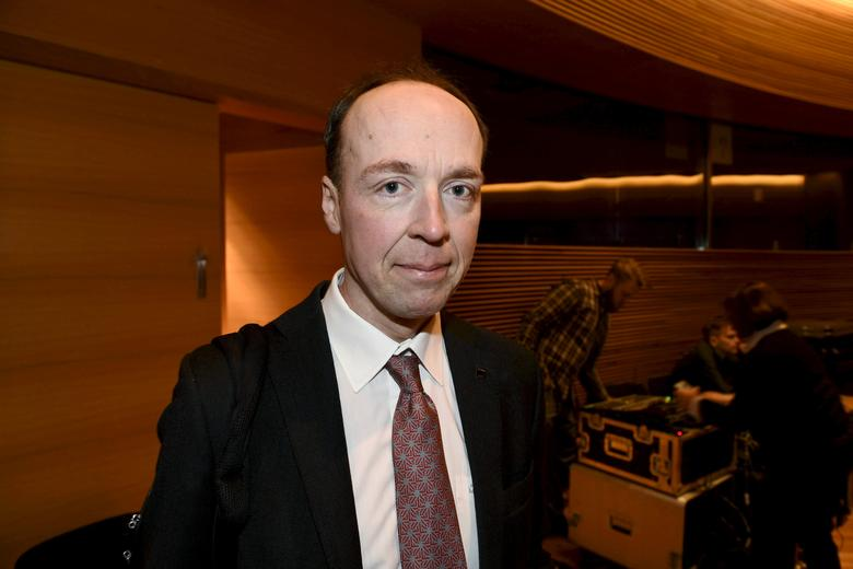 Jussi Halla-aho, a member of the European Parliament and the Finns party, attends the party meeting in Helsinki, Finland, March 11, 2017. Picture taken March 11, 2017. LEHTIKUVA/Martti Kainulainen via REUTERS