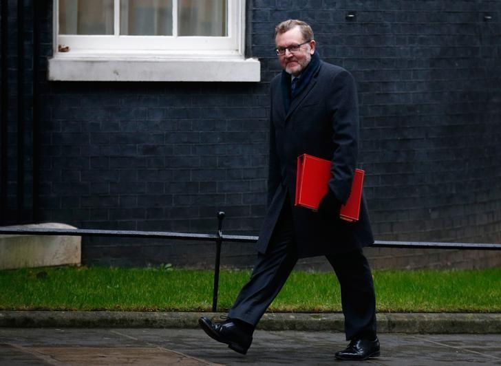 Britain's Secretary of State for Scotland David Mundell arrives for a cabinet meeting in Downing Street, London, January 31, 2017. REUTERS/Peter Nicholls/Files