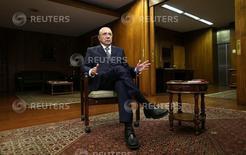 Ministro da Fazenda, Henrique Meirelles, em entrevista em Brasília   21/02/2017      REUTERS/Adriano Machado