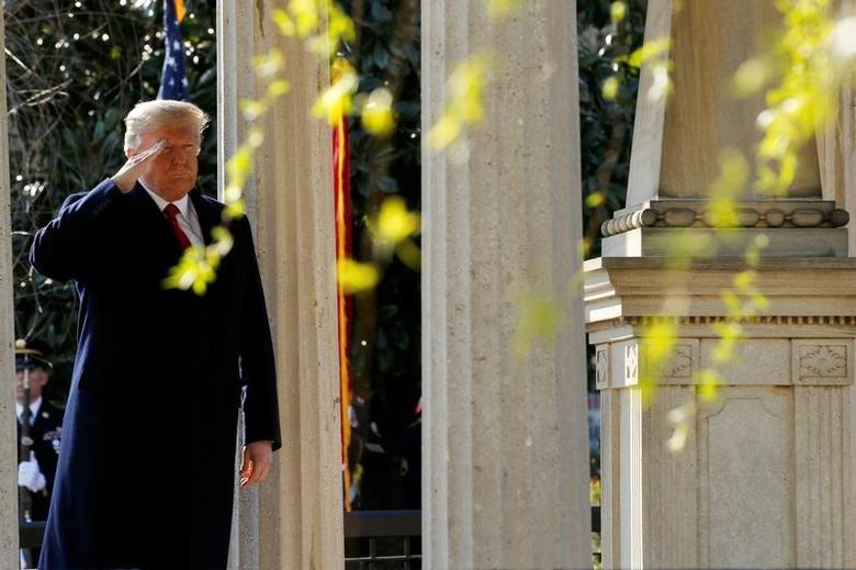 U.S. President Donald Trump in Nashville, Tennessee, U.S. March 15, 2017. REUTERS/Jonathan Ernst