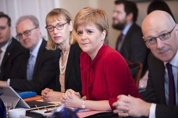 Scotland's First Minister Nicola Sturgeon holds her first cabinet meeting at Bute House since signalling her intention to hold another independence referendum, in Edinburgh, Scotland, Britain, March 14, 2017. REUTERS/James Glossop/Pool