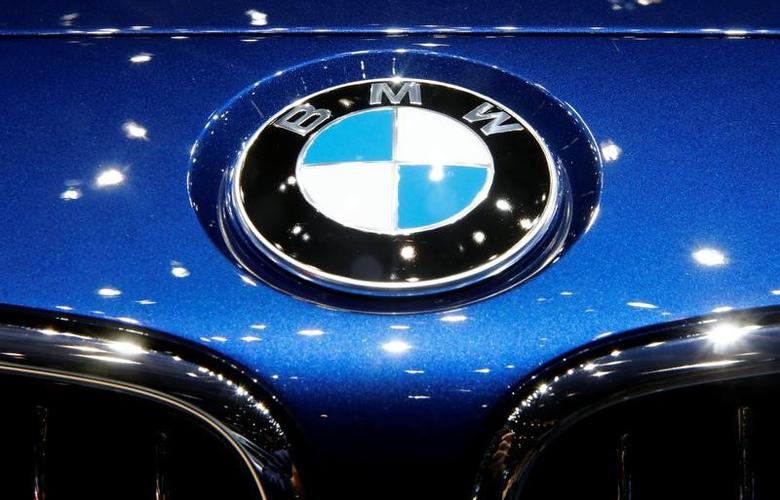 The logo of BMW is seen during the 87th International Motor Show at Palexpo in Geneva, Switzerland March 8, 2017. REUTERS/Arnd Wiegmann/Files