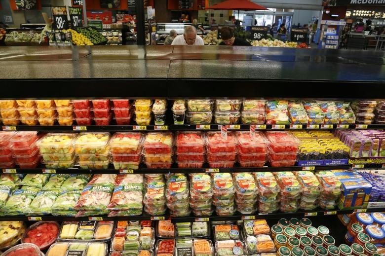 The fresh fruit and vegetable section is seen at a Walmart Supercenter in Rogers, Arkansas June 6, 2013.     REUTERS/Rick Wilking