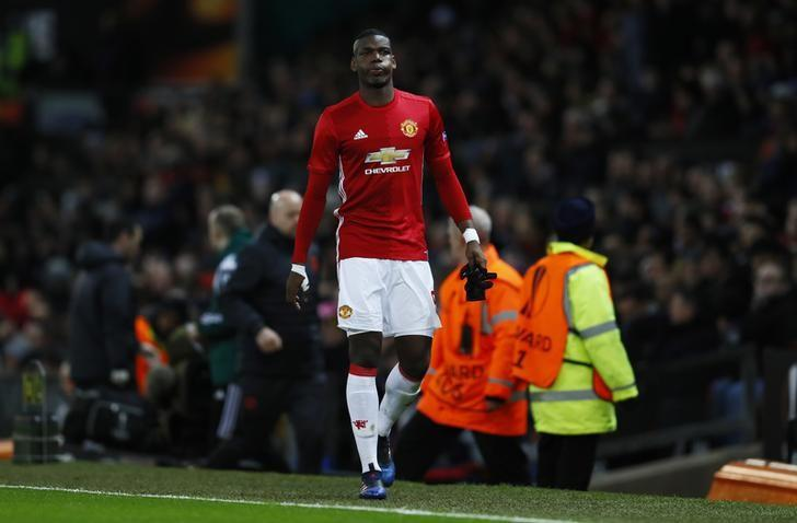 Britain Football Soccer - Manchester United v FC Rostov - Europa League Round of 16 Second Leg - Old Trafford, Manchester, England - 16/3/17 Manchester United's Paul Pogba walks down the tunnel after sustaining an injury and being substituted  Action Images via Reuters / Jason Cairnduff Livepic