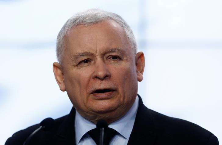 Jaroslaw Kaczynski, the leader of the ruling Law and Justice Party (PiS) speaks during a news conference in Warsaw, Poland March 13, 2017. REUTERS/Kacper Pempel/Files
