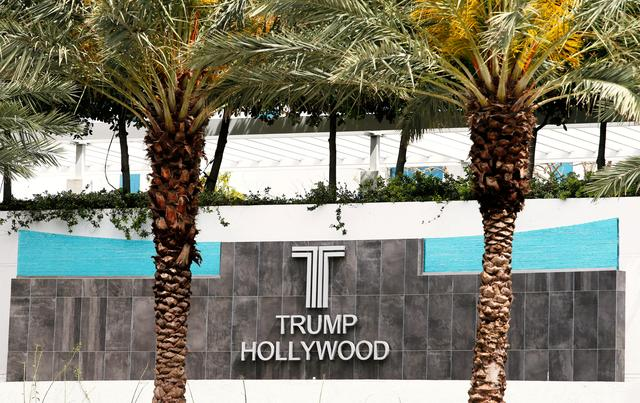 A sign for Trump Hollywood is shown in Hollywood, Florida, U.S. March 14, 2017.        REUTERS/Joe Skipper