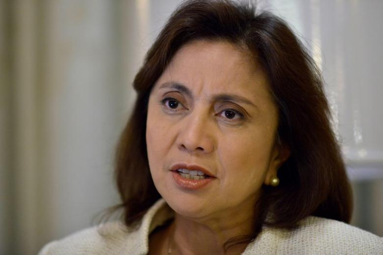 Philippines' Vice President Leni Robredo speaks during a Reuters interview, at the Quezon City Reception House, Metro Manila, Philippines December 12, 2016. REUTERS/Ezra Acayan