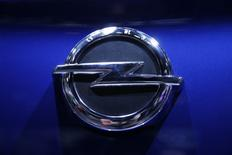 The logo of Opel car is seen during the 87th International Motor Show at Palexpo in Geneva, Switzerland, March 7, 2017. REUTERS/Denis Balibouse