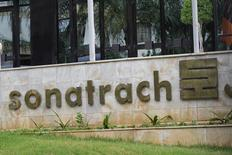 the logo of The state energy company Sonatrach  is pictured at the headquarters in Algiers, Algeria june 26, 2016.Reuters/Ramzi Boudia