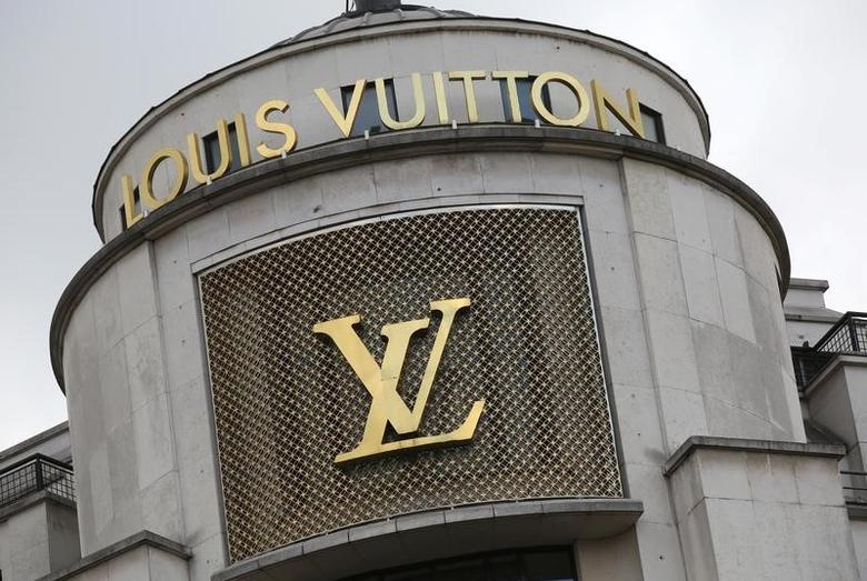 The logo of French luxury group Louis Vuitton is seen at a store in Paris, France, February 6, 2017. REUTERS/Jacky Naegelen