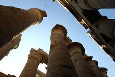 صورة من أرشيف رويترز لمعبد الكرنك في الأقصر