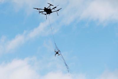 Drones in the sky