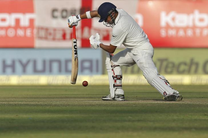 Cricket - India v England - First Test cricket match - Saurashtra Cricket Association Stadium, Rajkot, India - 10/11/16. India's Gautam Gambhir plays a shot. REUTERS/Amit Dave/File Photo