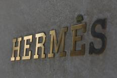FILE PHOTO: The front of the Hermes store on Madison Avenue in New York, U.S., March 20, 2017. REUTERS/Shannon Stapleton/File Photo
