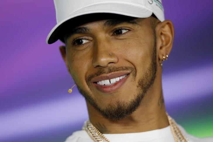 Formula One - F1 - Australian Grand Prix - Melbourne, Australia - 23/03/2017 Mercedes driver Lewis Hamilton of Britain during a press conference.   REUTERS/Brandon Malone