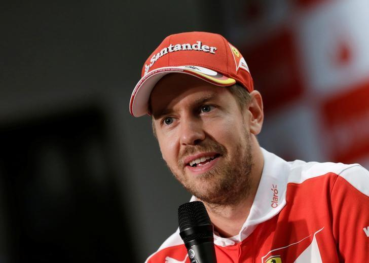 Ferrari Formula One driver Sebastian Vettel of Germany attends a news conference in Mexico City, Mexico, October 26, 2016. REUTERS/Henry Romero/Files